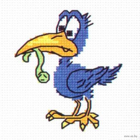 """Вышивка крестом """"Синяя ворона"""""""