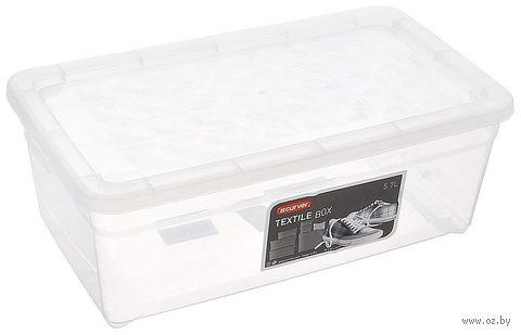 Ящик для хранения с крышкой (5,7 л; 343х195х125 мм)