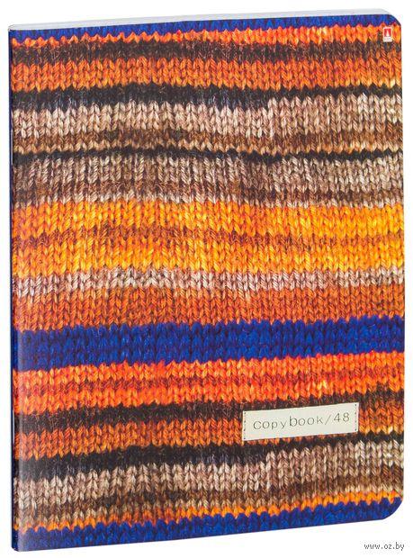 """Тетрадь полуобщая в клетку """"Модный свитер"""" (48 листов; в ассортименте) — фото, картинка"""