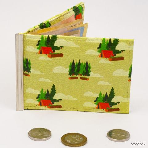 """Зажим для денег с монетницей """"Кемпинг"""" — фото, картинка"""
