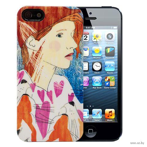"""Чехол для iPhone 5/5S """"Ginger"""" (оранжевый) — фото, картинка"""