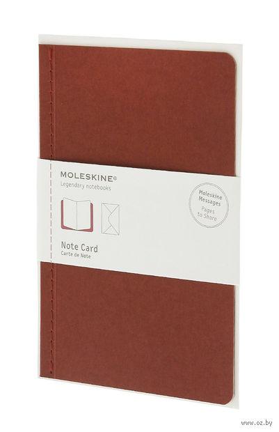 """Почтовый набор Молескин """"Note Card"""" с конвертом (большой; мягкая обложка, цвет: терракотовый)"""