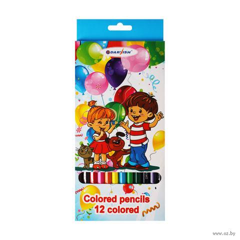 """Цветные карандаши """"Дети"""" (12 цветов; арт. DV-4802-12)"""