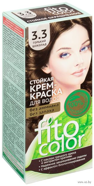 """Крем-краска для волос """"FitoСolor"""" (тон: 3.3, горький шоколад) — фото, картинка"""