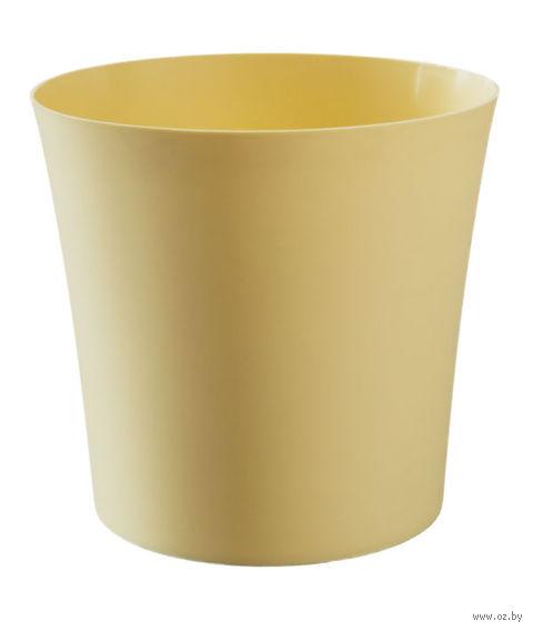 """Цветочный горшок """"Фиолек"""" (16 см; желтая пастель) — фото, картинка"""