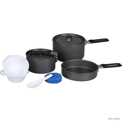 """Набор посуды туристический """"Flex"""" (2 кастрюли; 1 сковородка) — фото, картинка"""