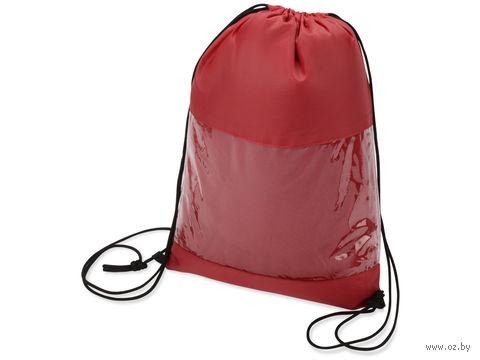 """Плед в рюкзаке """"Кемпинг"""" (красный) — фото, картинка"""