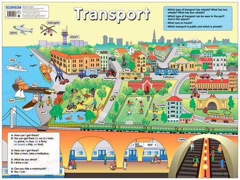 Транспорт. Плакат — фото, картинка