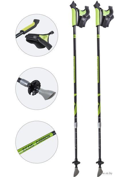 Палки для скандинавской ходьбы двухсекционные AQD-B019A (85-135 см; зелёные) — фото, картинка