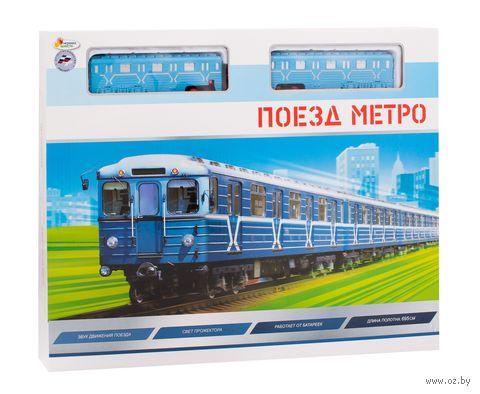 """Железная дорога """"Поезд метро"""" (со световыми и звуковыми эффектами) — фото, картинка"""