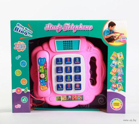 """Развивающая игрушка """"Музыкальный телефон. Веселые звонки"""" (с обучающими карточками; арт. Б41842)"""
