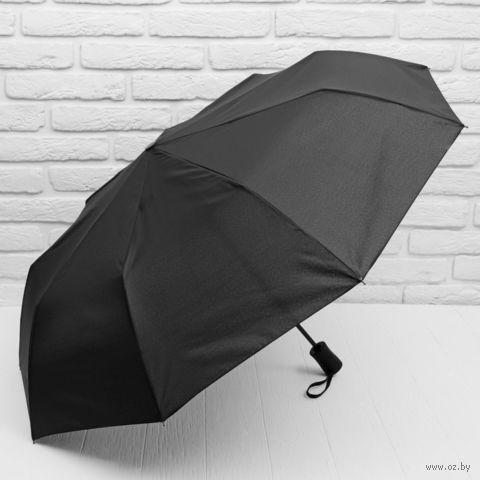"""Зонт """"Однотонный"""" (чёрный) — фото, картинка"""
