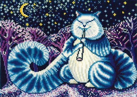 """Вышивка крестом """"Лунный кот"""""""