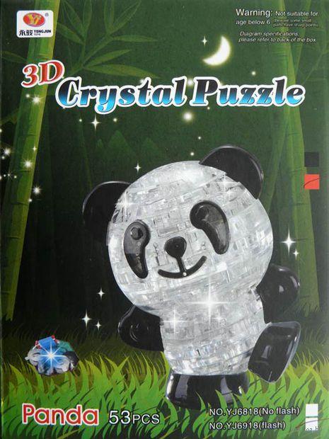 "Пазл-головоломка ""Crystal Puzzle. Панда светящаяся"" (53 элемента)"