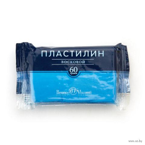 Пластилин восковой (60 г; голубой) — фото, картинка