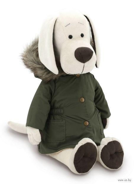 "Мягкая игрушка ""Собачка Лапуська. Осенняя куртка"" (30 см) — фото, картинка"