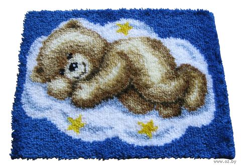 "Вышивка в ковровой технике ""Коврик. Мишка на облаке"" (550х400 мм; арт. 0014291-PN) — фото, картинка"