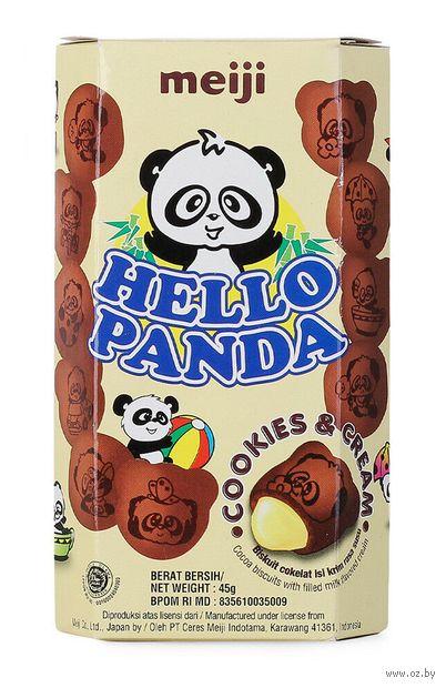 """Печенье """"Hello Panda. Cookies and Cream"""" (45 г) — фото, картинка"""