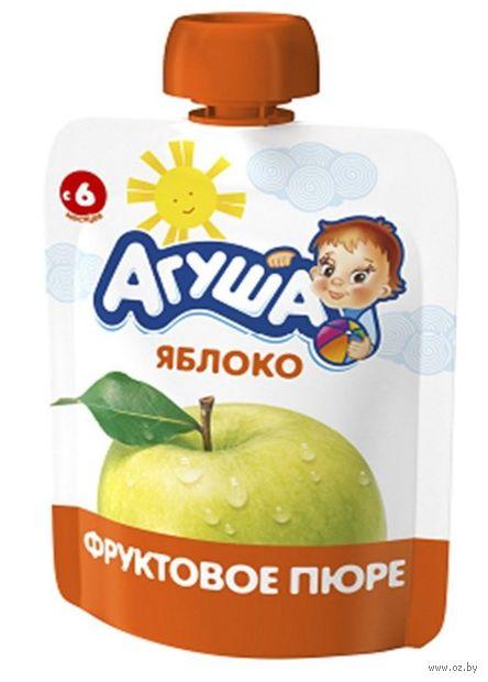 """Детское пюре Агуша """"Яблоко"""" (90 г) — фото, картинка"""