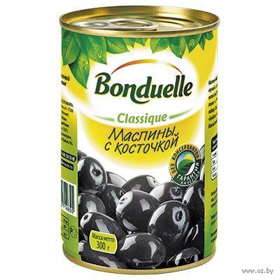 """Маслины """"Bonduelle. С косточкой"""" (314 мл) — фото, картинка"""