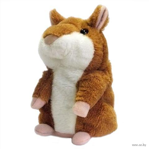 """Мягкая интерактивная игрушка """"Говорящий хомяк"""" (коричневый)"""