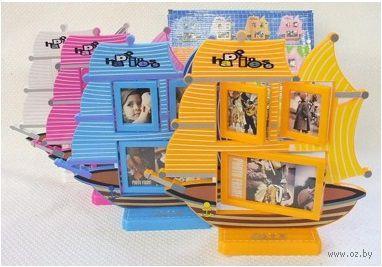 Рамка для фото пластмассовая на 3 фото (30х29 см, арт. 7900018)
