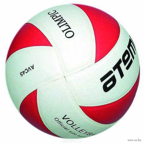 """Мяч волейбольный Atemi """"Olimpic"""" №5 (красно-белый) — фото, картинка"""