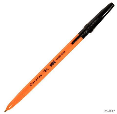 """Ручка шариковая черная """"Corvina"""" (1,0 мм)"""