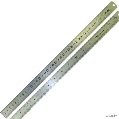 Линейка металлическая двусторонняя (40 см)