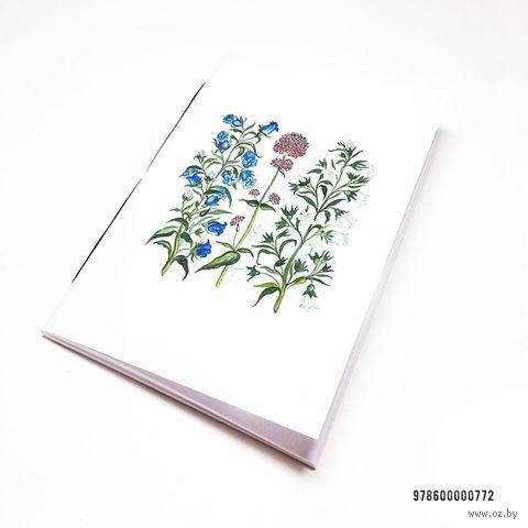 """Блокнот белый """"Полевые цветы"""" А7 (арт. 772)"""