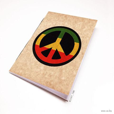 """Блокнот крафт """"Peace"""" А7 (807)"""