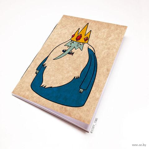 """Блокнот крафт """"Время приключений. Ледяной король"""" А5 (095)"""