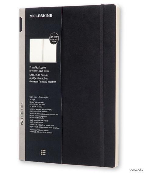 """Записная книжка Молескин """"Workbook Pro Soft"""" в клетку (формат: A4; мягкая черная обложка)"""