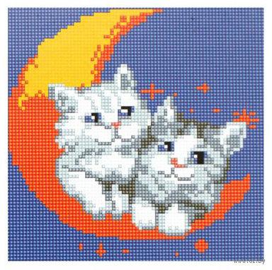 "Алмазная вышивка-мозаика ""На луне"" (200x200 мм) — фото, картинка"