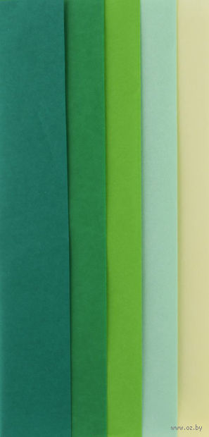 "Бумага креповая ""Heyda"" (50х70 см; зеленое ассорти) — фото, картинка"