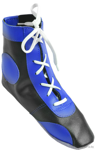 Обувь для самбо П (р. 45; кожа; синяя) — фото, картинка
