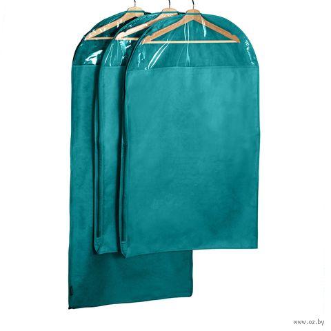 Чехол для одежды (3 шт.; бирюзовый) — фото, картинка