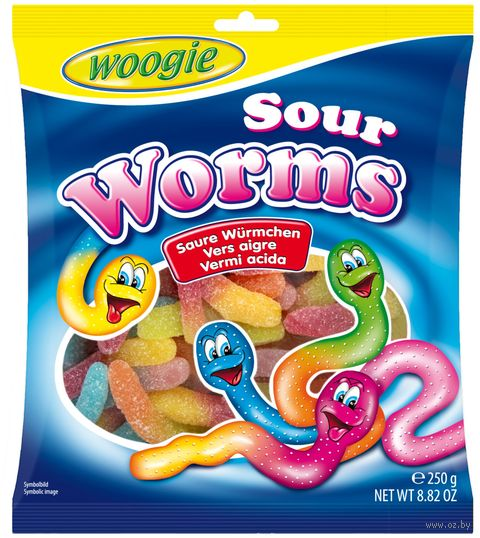 "Мармелад ""Woogie. Кислые червячки"" (250 г) — фото, картинка"