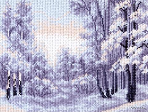 "Канва с нанесенным рисунком ""Зимний лес"" (арт. 1402)"