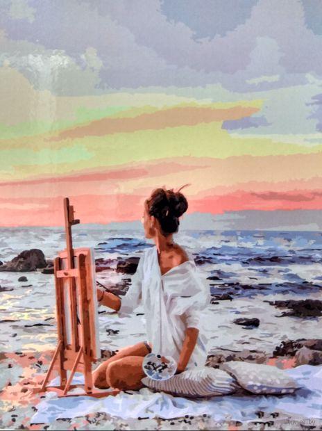 """Картина по номерам """"Рисуя закат"""" (400х500 мм) — фото, картинка"""
