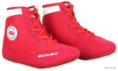 Обувь для борьбы (р. 32; красно-белая) — фото, картинка