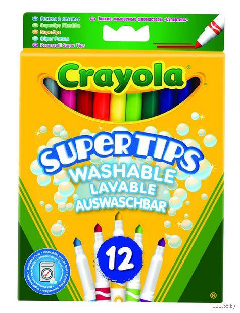 """Фломастеры """"Crayola. Supertips"""" (12 цветов)"""