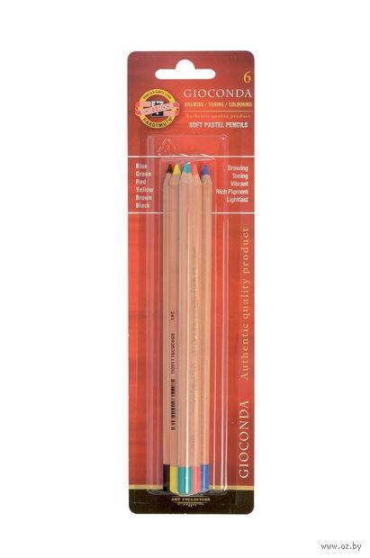 """Набор карандашей цветных пастельных """"Gioconda"""" (6 цветов) — фото, картинка"""