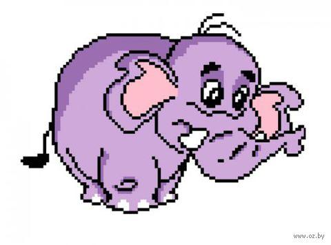 "Вышивка крестом ""Слон"" (220x250 мм) — фото, картинка"