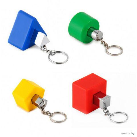 """Держатель для ключей с брелоками """"Shapes"""" (4 шт.; разноцветный)"""