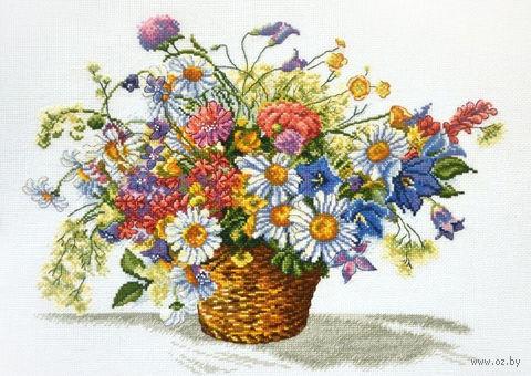 """Вышивка крестом """"Луговые цветы"""" (400x310 мм) — фото, картинка"""
