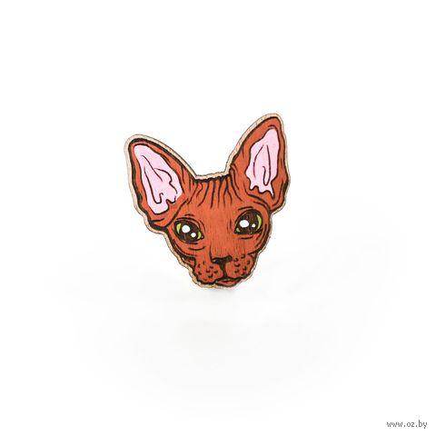 """Значок деревянный """"Кот сфинкс"""" (299) — фото, картинка"""