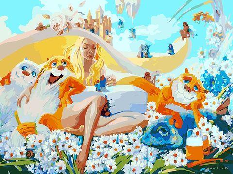 """Картина по номерам """"Блондинка"""" (300х400 мм) — фото, картинка"""