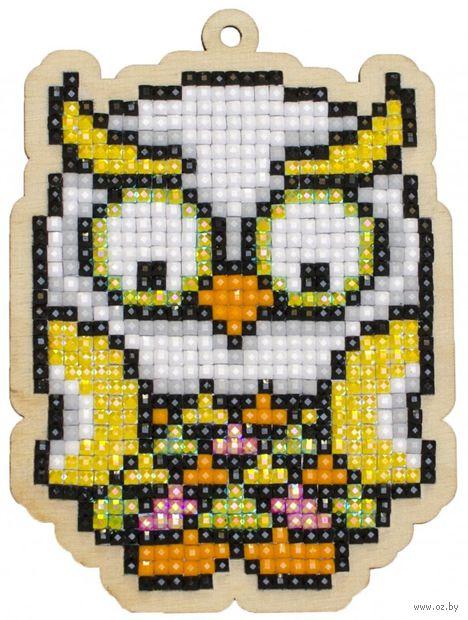 """Алмазная вышивка-мозаика """"Брелок. Тропическая сова"""" (75х103 мм) — фото, картинка"""