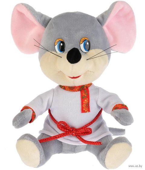 """Мягкая игрушка """"Мышонок в белой рубахе"""" (18 см) — фото, картинка"""